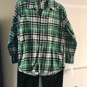 Carter's New 4T flannel shirt and corduroy pants